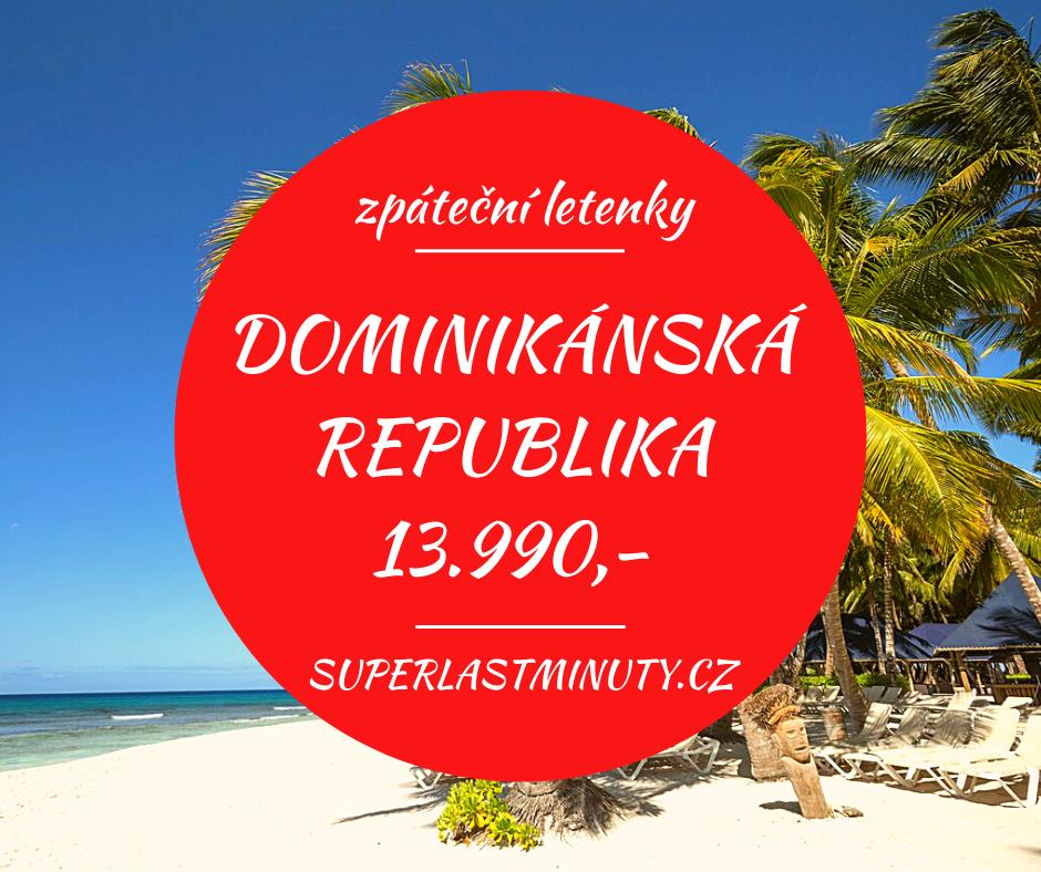 Akční letenky – Dominikánská republika od 13.990 Kč