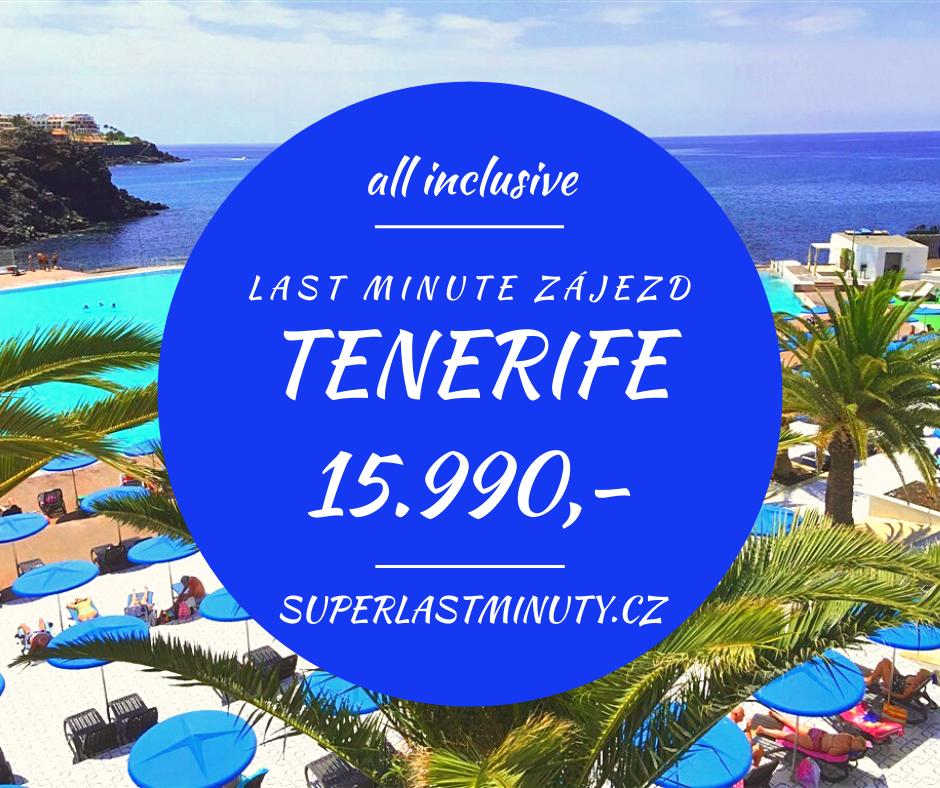 Sleva 25% – Tenerife, all inclusive, 8 dní za 15.990 Kč