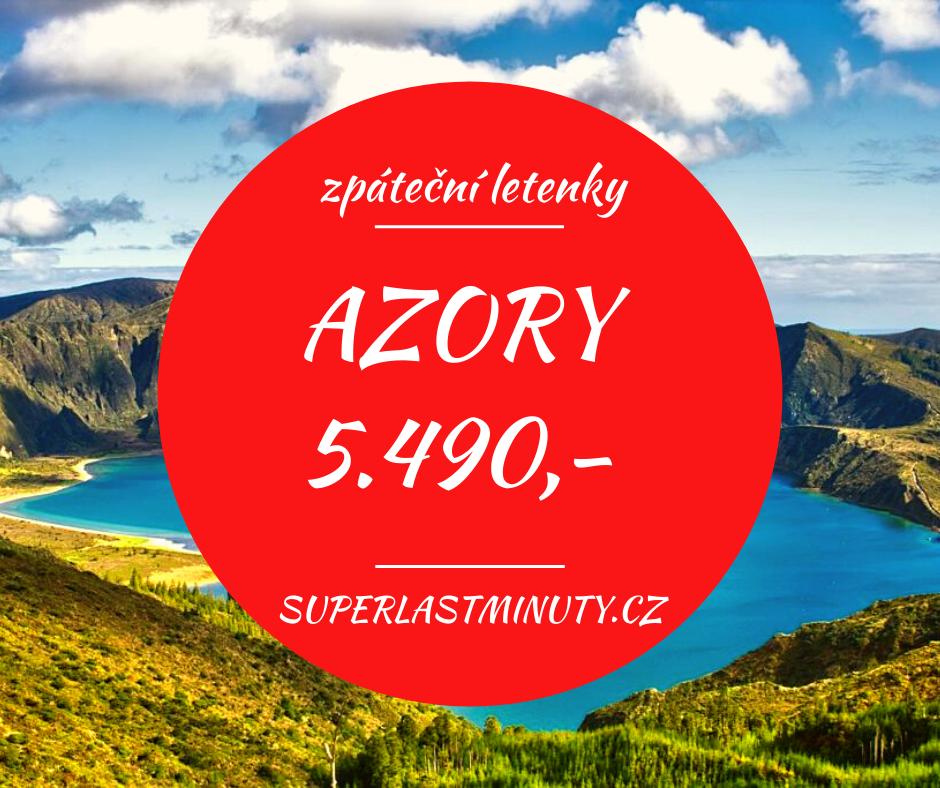 Akční letenky – Azory od 5.490 Kč