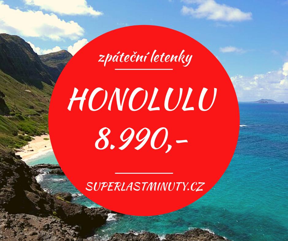 Akční letenky – Honolulu 8.990 Kč
