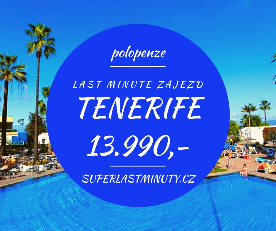 Sleva 45% – Tenerife, polopenze, 8 dní za 13.990 Kč