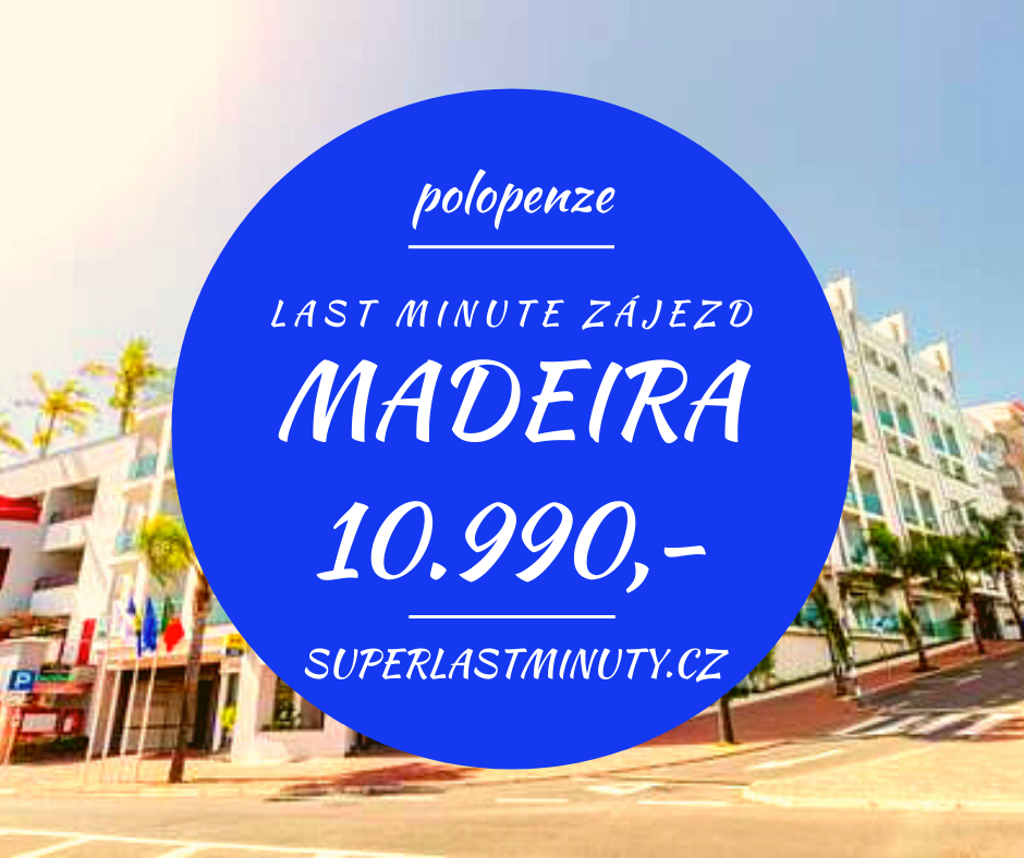 Sleva 57% – Madeira, polopenze, 8 dní za 10.990 Kč