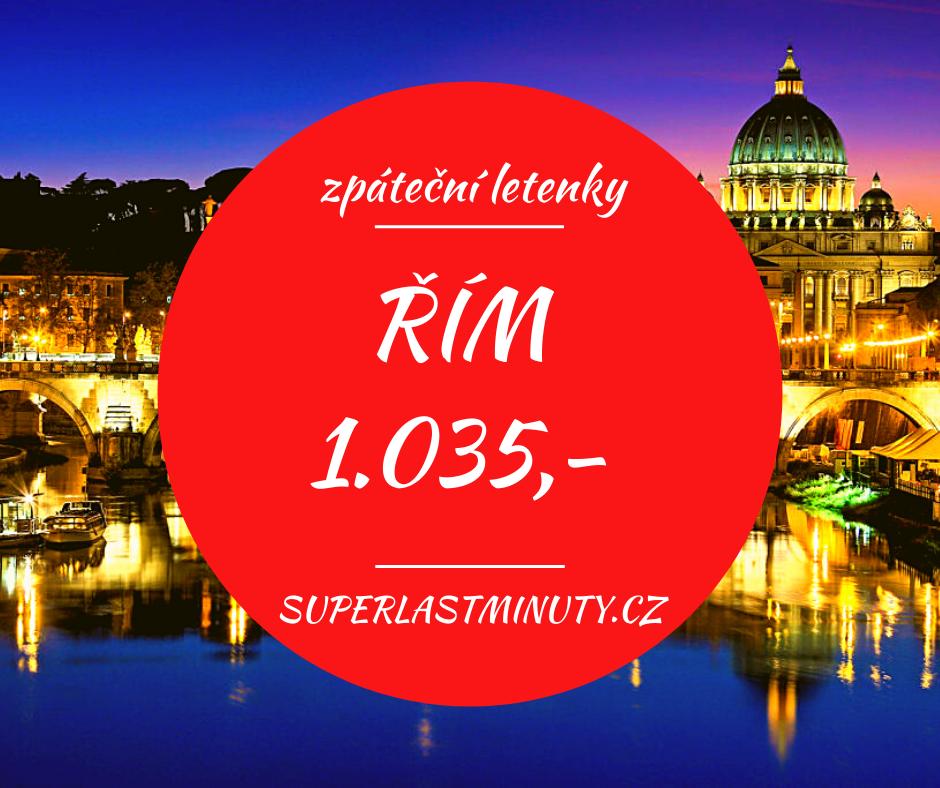 Akční letenky – Řím od 1.035 Kč