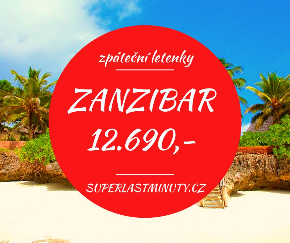 Akční letenky – Zanzibar 12.690 Kč