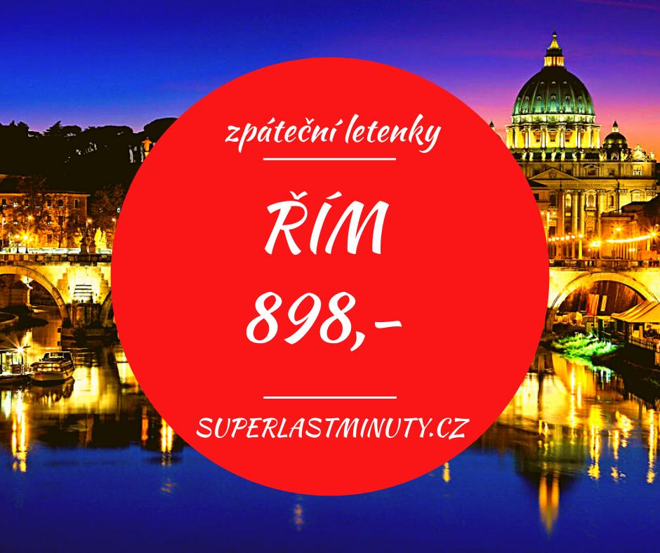 Akční letenky – Řím od 898 Kč