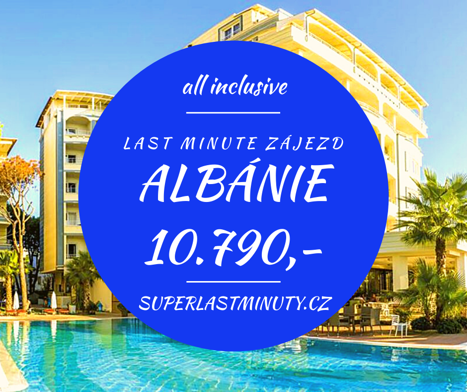 Sleva 38% – Albánie, all inclusive, 8 dní za 10.790 Kč
