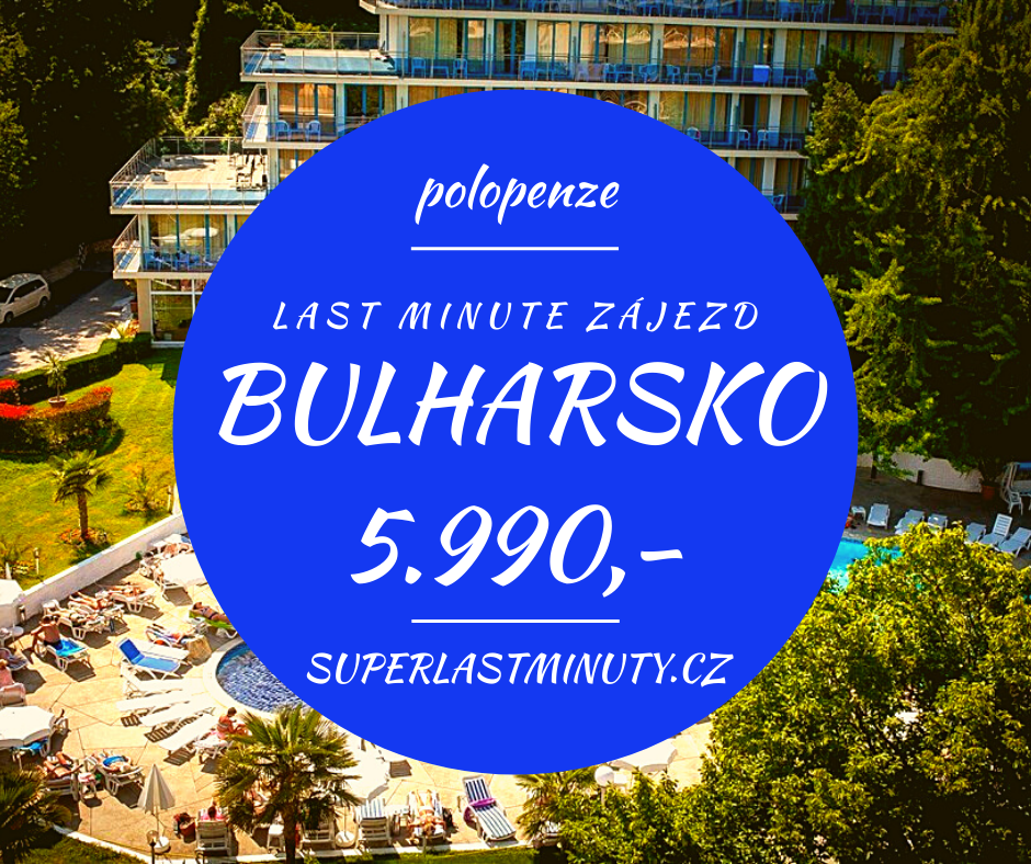 Sleva 65% – Bulharsko, polopenze, 8 dní za 5.990 Kč