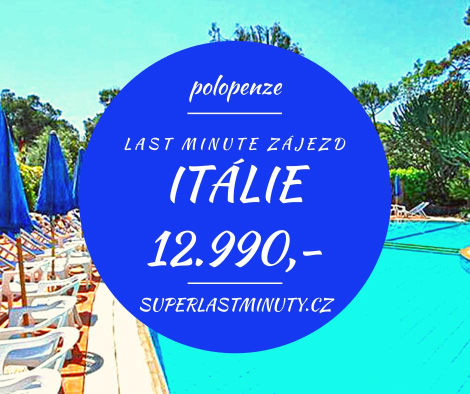Sleva 44% – Itálie, polopenze, 8 dní za 12.990 Kč