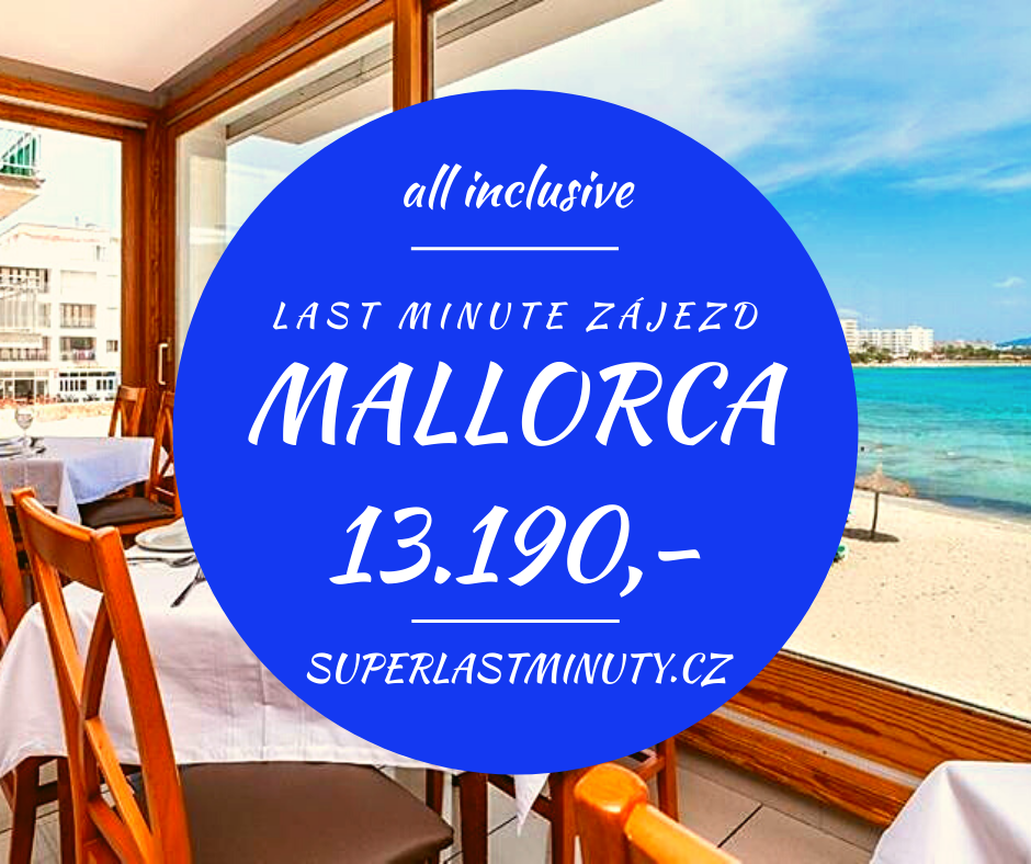 Sleva 39% – Mallorca, all inclusive, 8 dní za 13.190 Kč