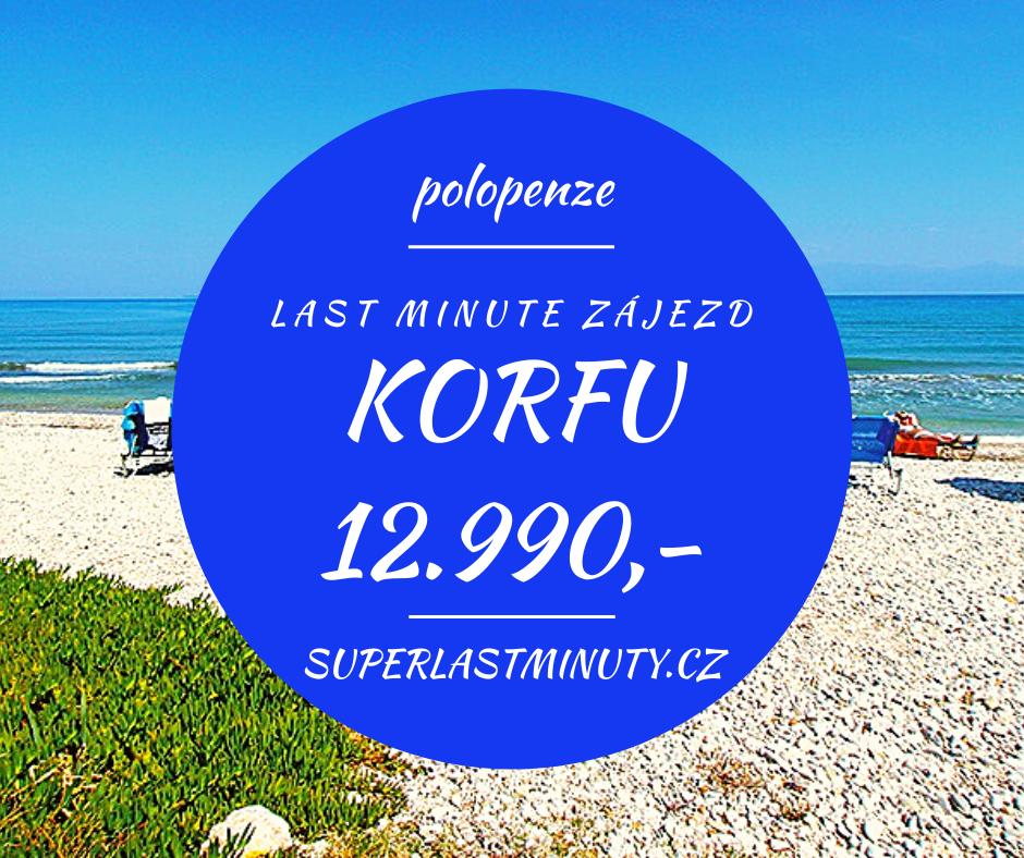 Sleva 40% – Korfu, polopenze, 8 dní za 12.990 Kč