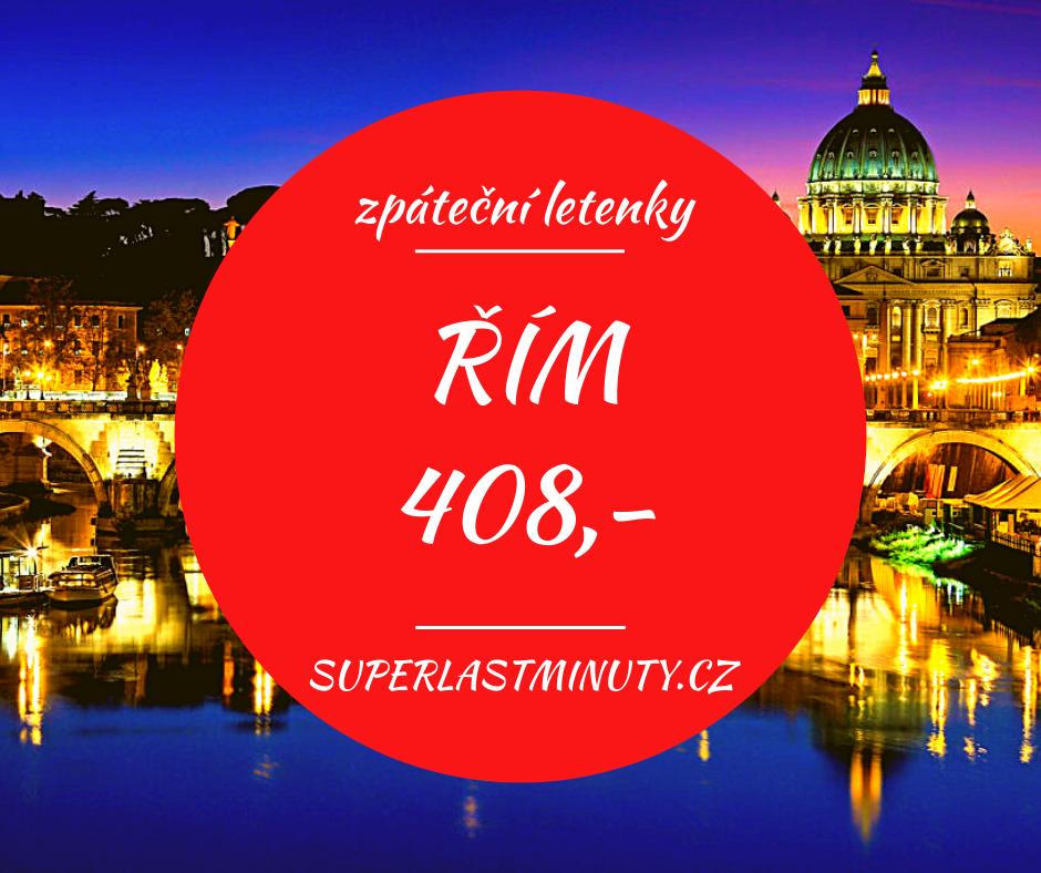 Akční letenky – Řím od 408 Kč